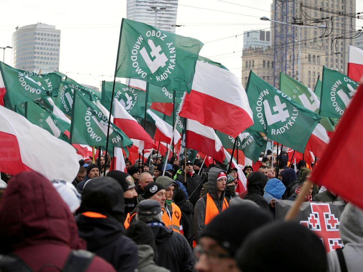 Na zdjęciu: demonstracja ONR w rocznicę odzyskania przez Polskę niepodległości.  (Reuters)