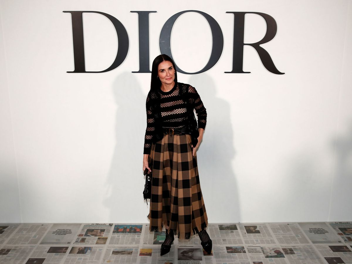 Foto: Demi Moore, en el desfile de Dior. (Reuters)