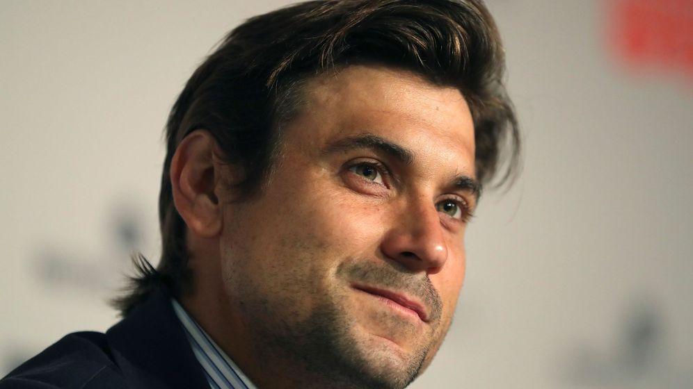 Foto: David Ferrer, durante su encuentro con medios en el pasado Mutua Madrid Open. (EFE)