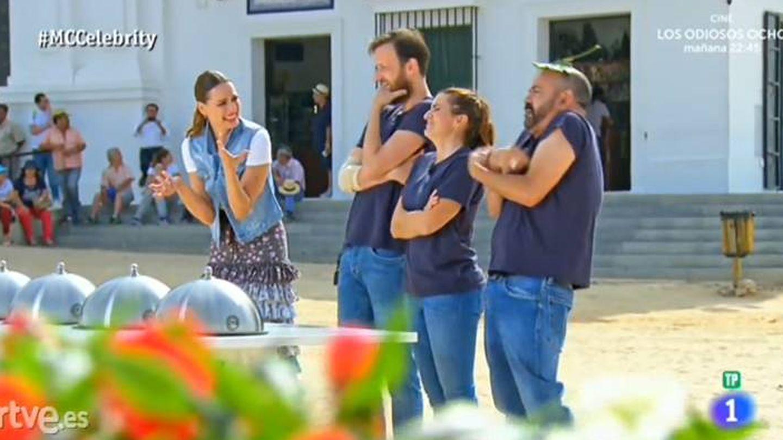 Edu Soto, Silvia Abril y José Corbacho imitan a los jueces