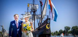 Post de Máxima de Holanda, con transparencias y ¿look de boda civil?