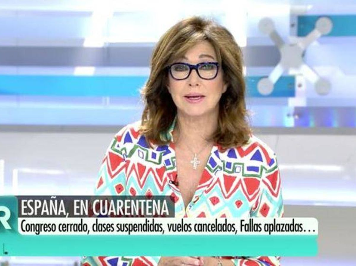 Foto: Ana Rosa Quintana, en Telecinco. (Mediaset).