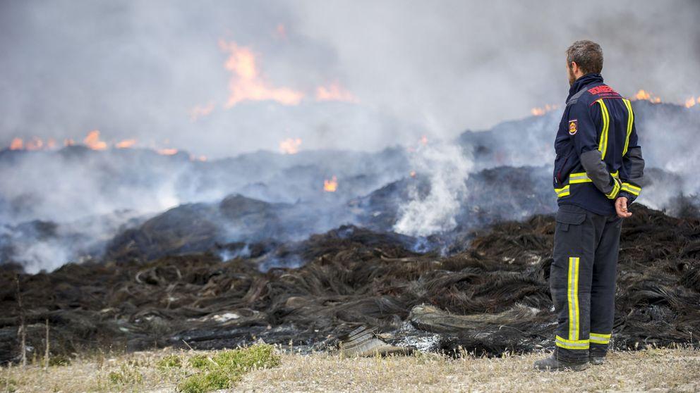 El incendio quema 80 millones: el valor de los neumáticos tras ser reciclados