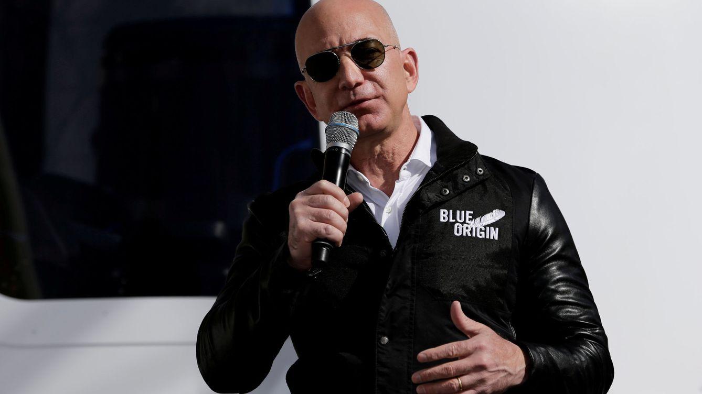 Foto: Jeff Bezos, durante la presentación del cohete New Sephard, en 2017. (Reuters)