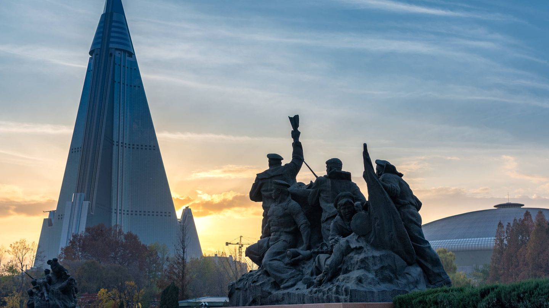 Atardece en Pyongyang.