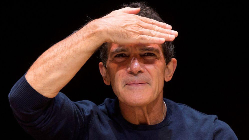 Foto: Antonio Banderas, en el coloquio tras el estreno de 'A Chorus line' (EFE).