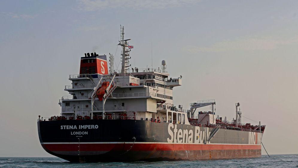 Foto: Stena impero es visto en el puerto de At Bandar Abbas. (Reuters)