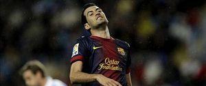 La pubalgia de Busquets deja sin 'base' la remontada del Barcelona