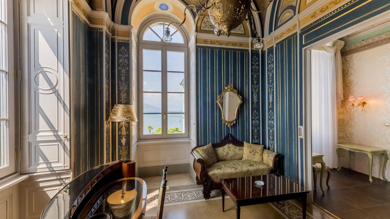 Así es el despacho de la suite del Gran Hotel Villa Serbelloni. (Cortesía)