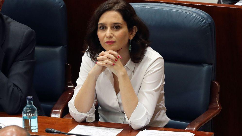 Foto: Isabel Díaz Ayuso, en la sesión de investidura. (EFE)