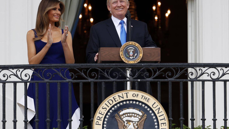 Melania Trump con un diseño de Esteban Cortázar. (Gtres)