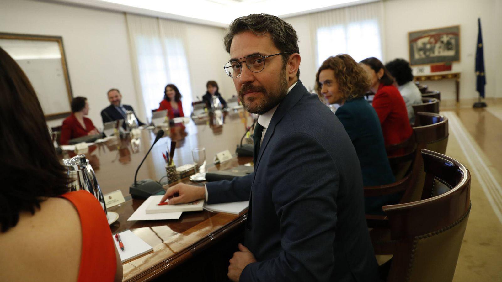 Foto: Màxim Huerta, en su primer Consejo de Ministros. (Gtres)