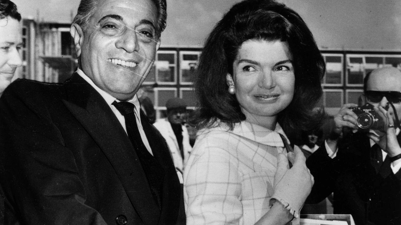 Aristóteles Onassis y Jackie Kennedy. (Getty)