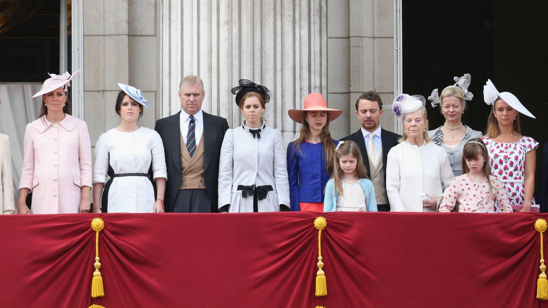 Kate Middleton, Eugenia de York, el príncipe Andrés y Beatriz de York, en una imagen de archivo.(Getty)