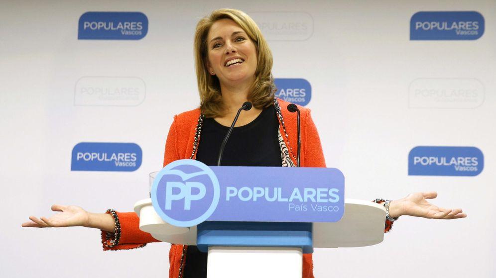Foto: Arantza Quiroga abandona la presidencia del PP del País Vasco. (EFE)