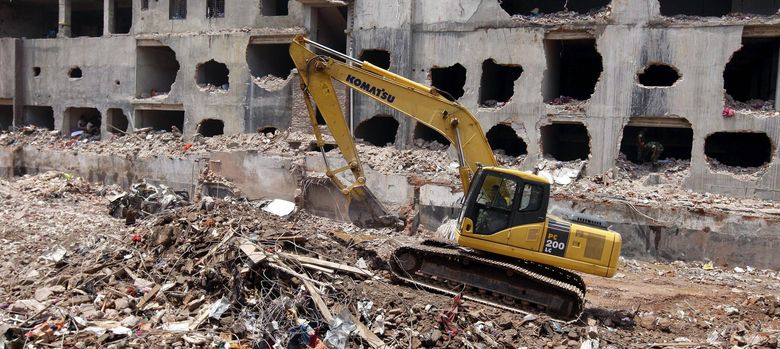 Foto: El complejo afectado por el derrumbe. (EFE)