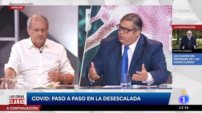 Javier Aroca y Francisco Simón, en 'Las cosas claras'. (RTVE)