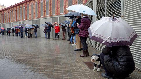 Elecciones marcadas por la lluvia, el covid y los lazos amarillos