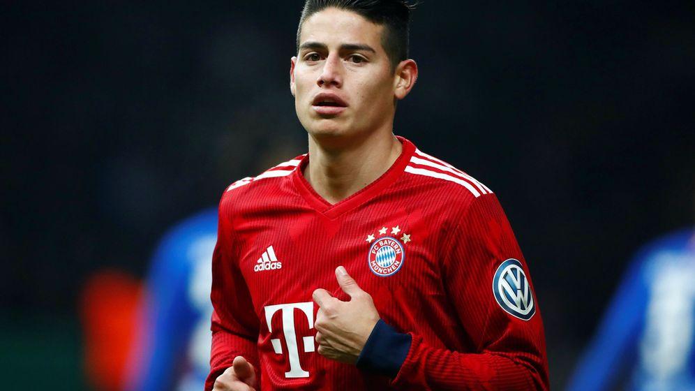 Foto: James Rodríguez durante un partido con el Bayern de Múnich. (Reuters)