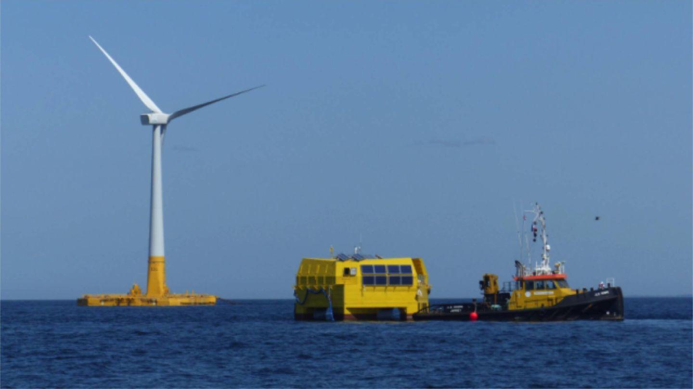 La primera planta flotante de hidrógeno verde se construirá en Francia. (Lhyfe)