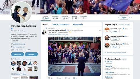 Paco Igea cambia su foto en Twitter y abraza a Toni Roldán tras su adiós