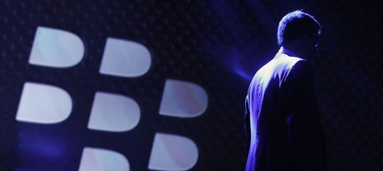 Foto: El presidente y CEO de Blackberry, Thorsten Heins, al finalizar una presentación (REUTERS)