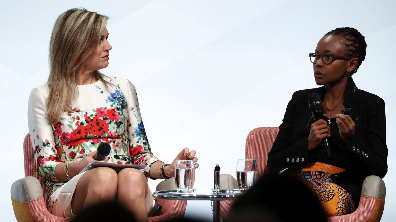 La reina Máxima en la cumbre de mujeres del G20 en Berlín, en 2017. (EFE)
