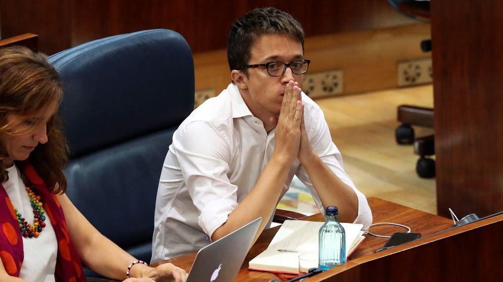 Foto: Íñigo Errejón durante el pleno de investidura de Isabel Díaz Ayuso (PP) en la Asamblea de Madrid el pasado mes de agosto. (EFE)