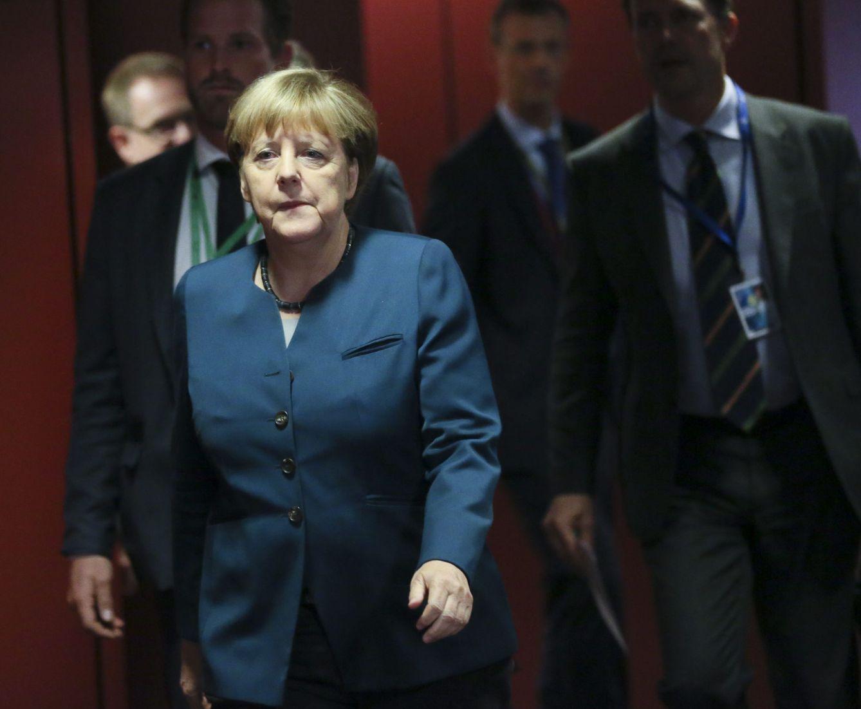 Foto: Merkel, en la cumbre europea celebrada en Bruselas este mes. (Olivier Hoslet / Efe)