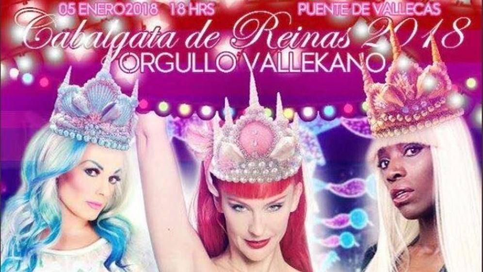 Foto: Cartel de la Cabalgata de Reinas de Vallecas. (@Orgullovallekano)