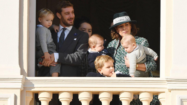 Carolina sujetando a Max y Francesco. (Getty)