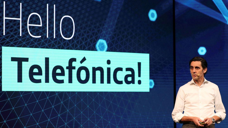 El presidente de Telefónica, José María Álvarez-Pallete, en un acto de la compañía. (EFE)