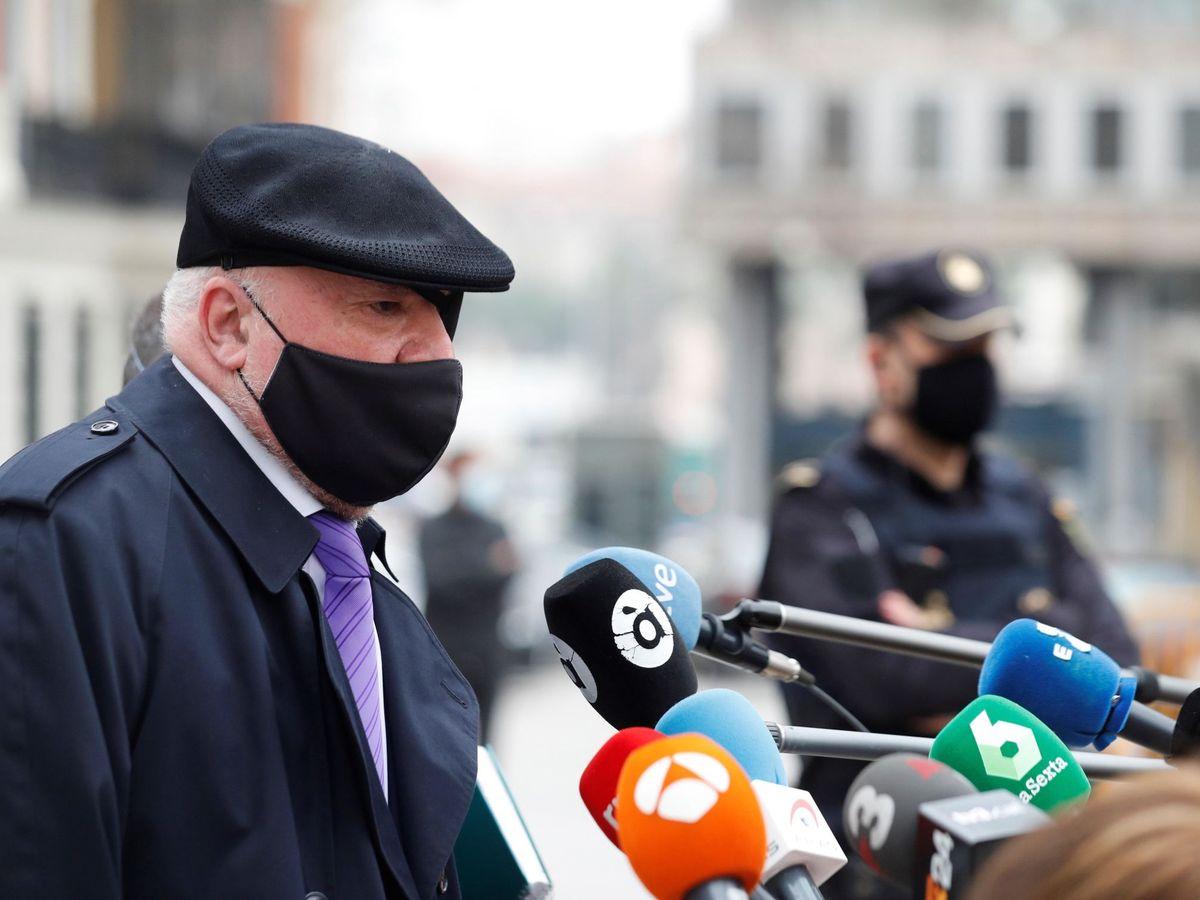 Foto: Villarejo en la audiencia nacional para testificar en el caso tándem.