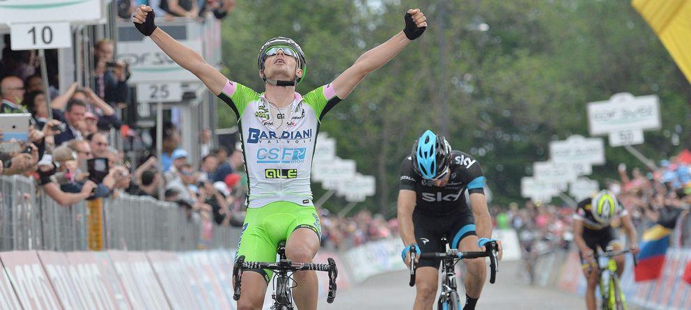 Foto: Battaglin repitió victoria en el Giro tras ganar también la cuarta etapa de la ronda.
