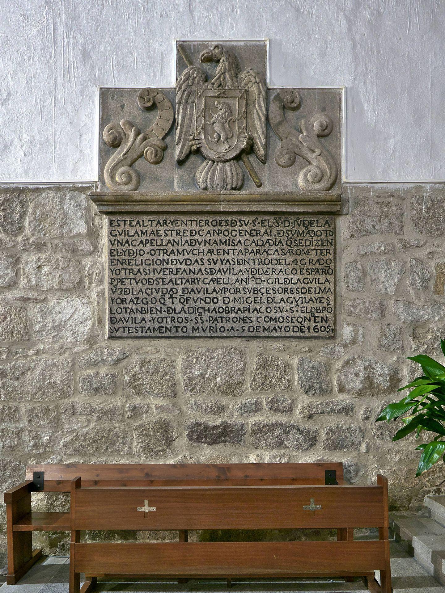 Sepulcro de Juan del Águila. Foto: José Luis Filpo Cabana / Wikipedia