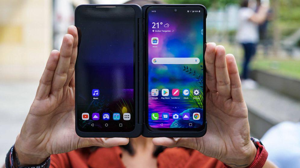 Foto: El G8X, el nuevo móvil de LG. (M. Mcloughlin)