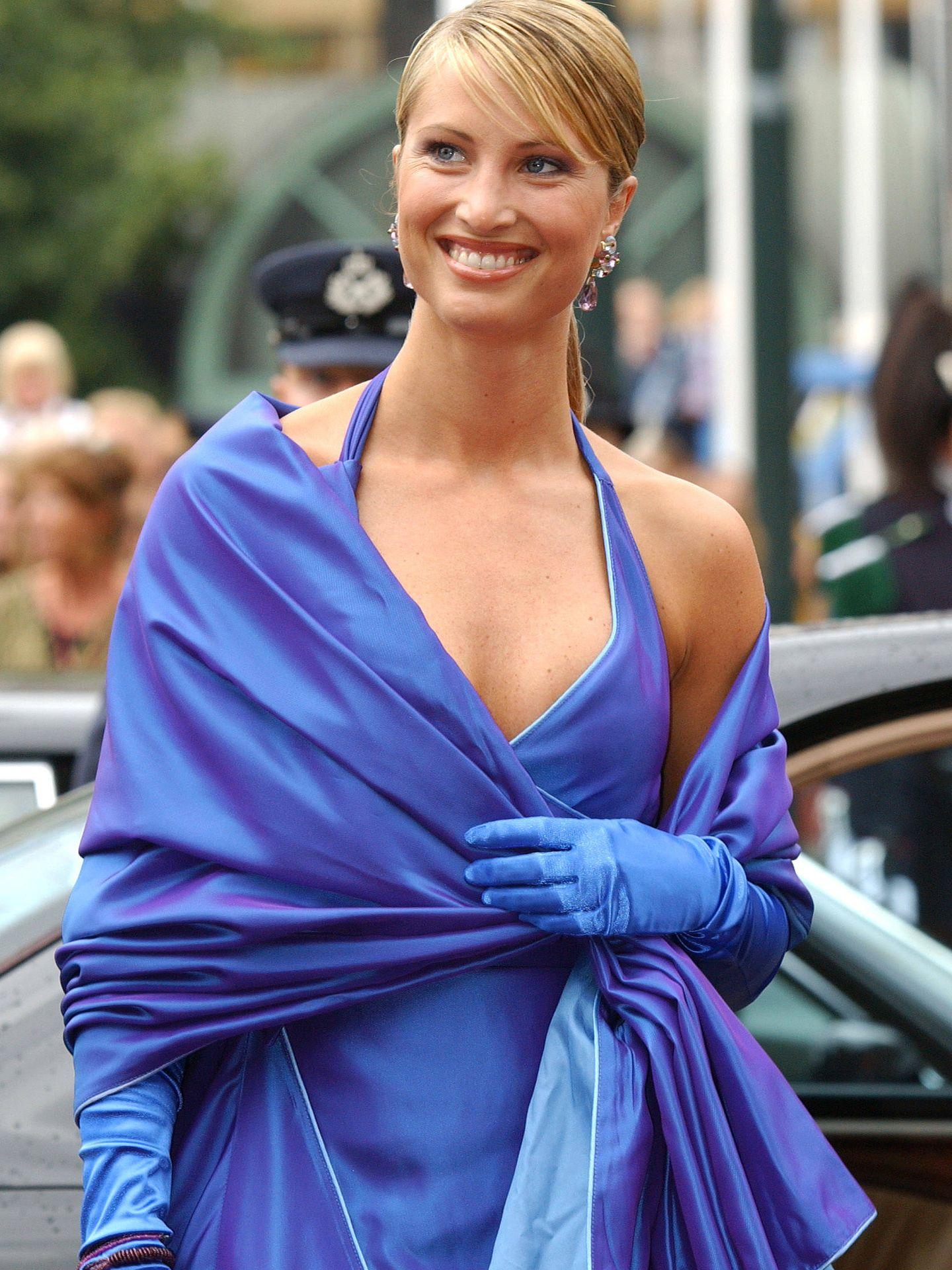 Eva Sannum, en la boda de Haakon y Mette-Marit. (Reuters)