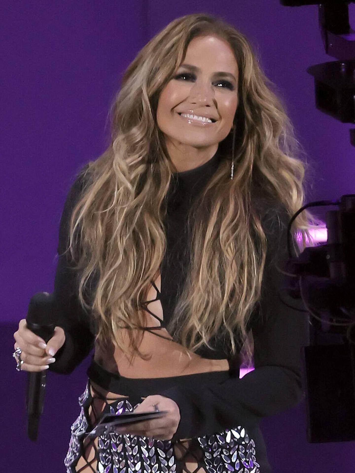 El rubio melting de Jennifer Lopez. (Getty)