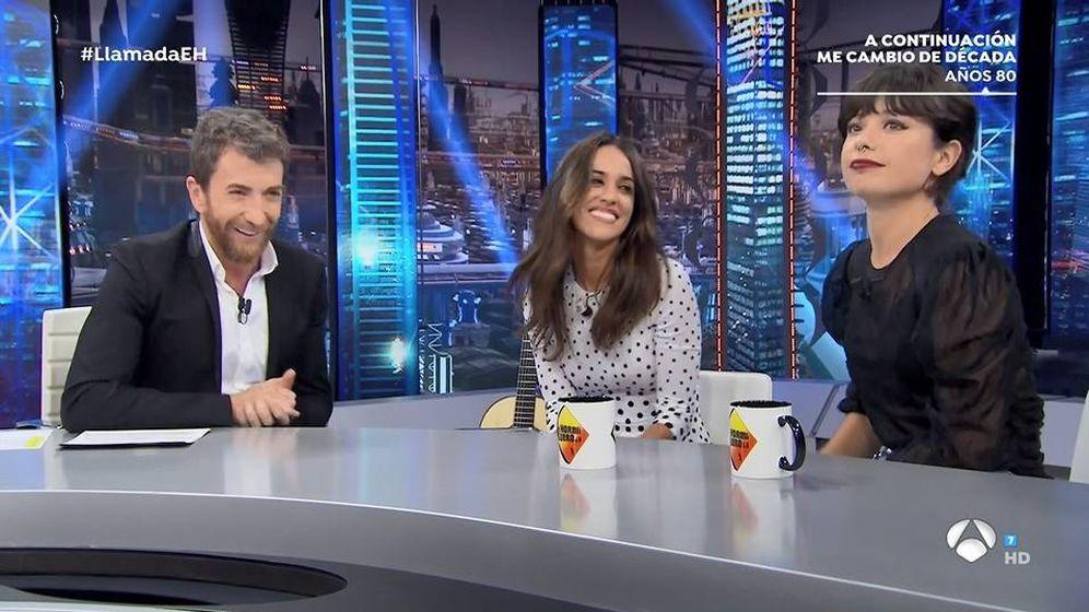 Foto: Anna Castillo y Macarena García en 'El hormiguero'. (Atresmedia TV)