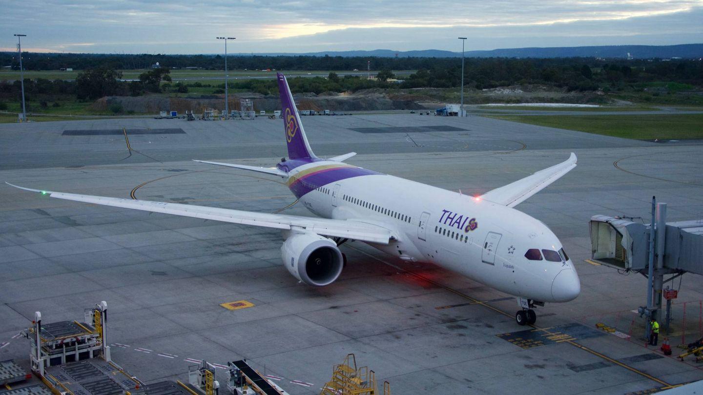 Modelo del Boing 787 Dreamliners de la compañía Thai Airways.