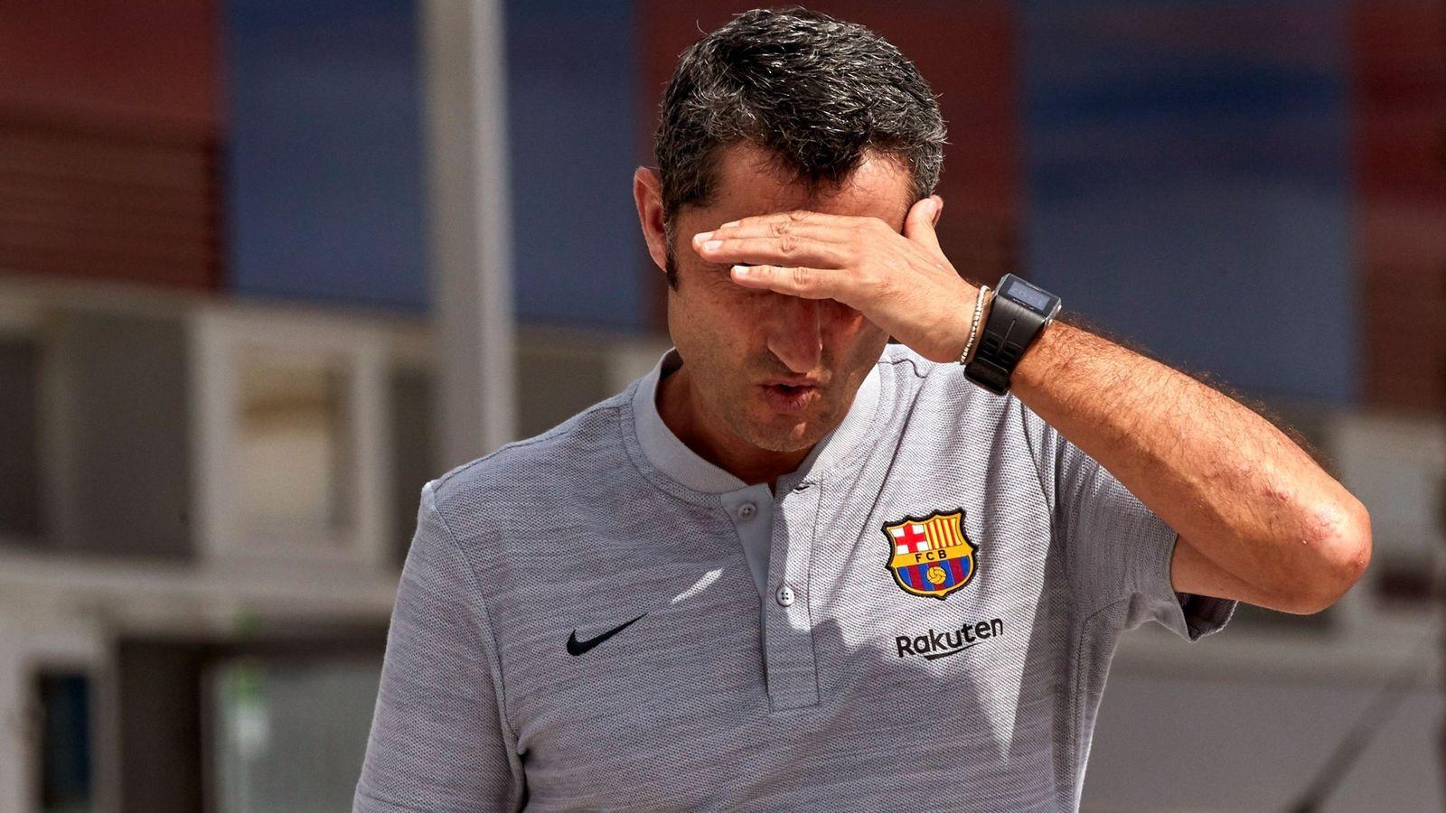 Foto: Ernesto Valverde, entrenador del FC Barcelona. (EFE)