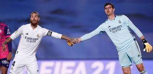 Post de Courtois, el mejor ayer, se la suelta a Zidane: