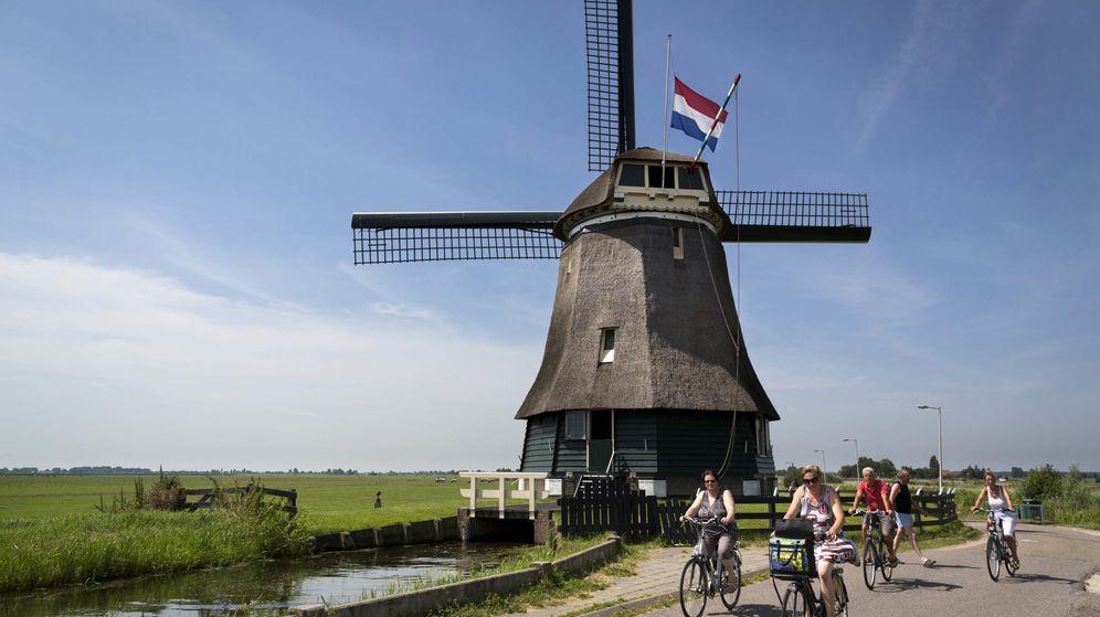 Foto: Molino con la bandera de Holanda. (Reuters)