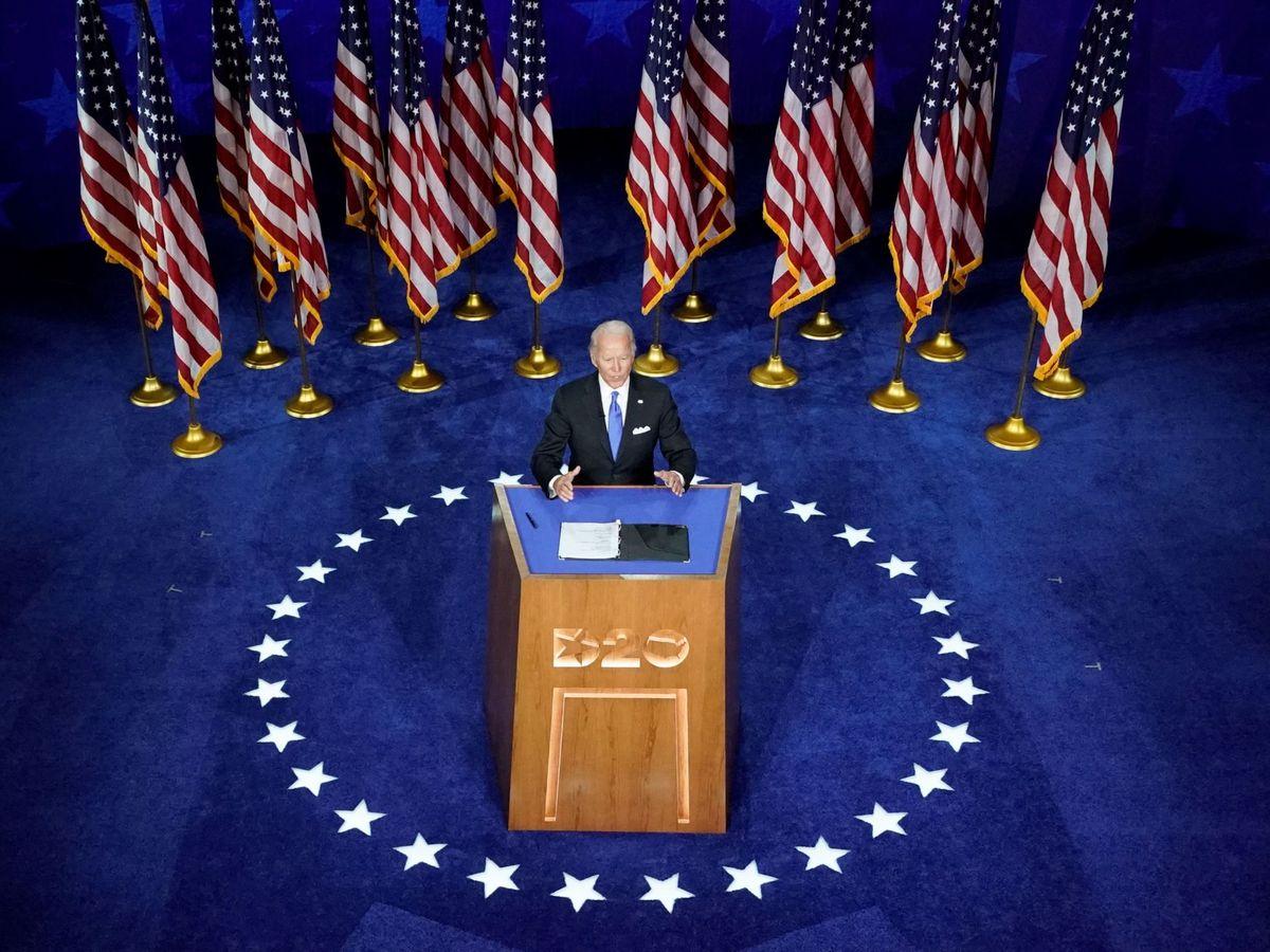 Foto: Joe Biden en la Convención Demócrata. (Reuters)