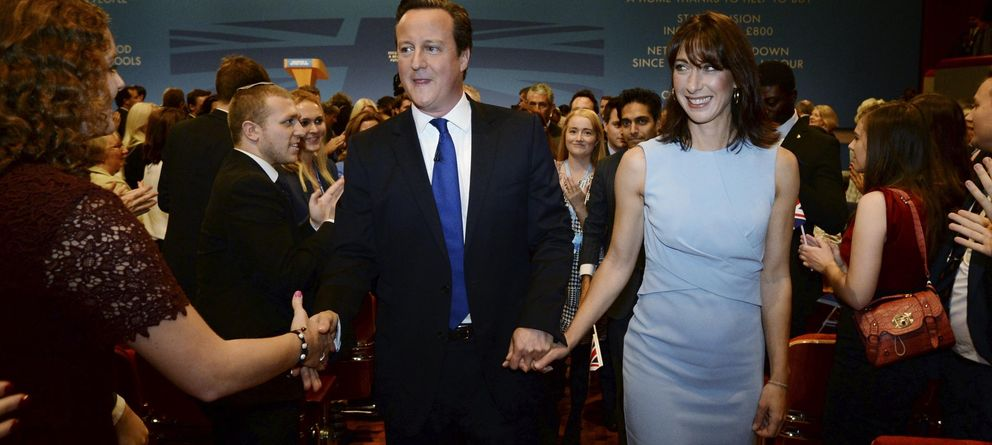 Foto: David Cameron saluda a simpatizantes tras el discurso en la Conferencia del Partido Conservador en Birmingham. (Reuters)