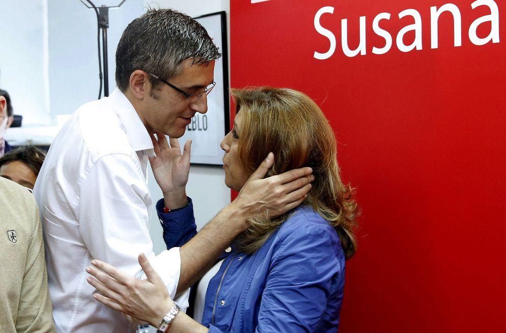 Foto: Eduardo Madina y Susana Díaz, el pasado 17 de mayo en Madrid, en la recta final de las primarias socialistas. (EFE)