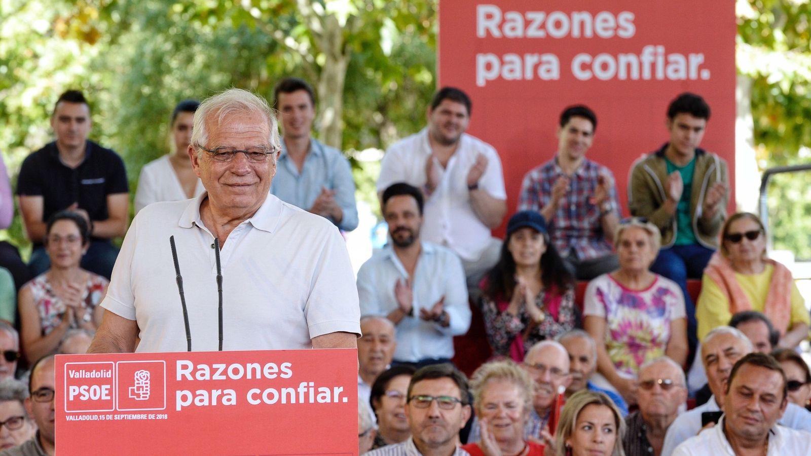 Foto: El ministro de Asuntos Exteriores, Josep Borrell, en Valladolid. (EFE)
