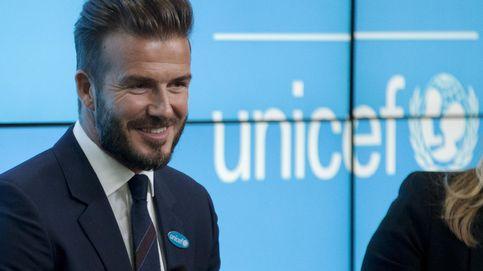 Beckham ayudó a Unicef sólo para ser caballero del Imperio Británico