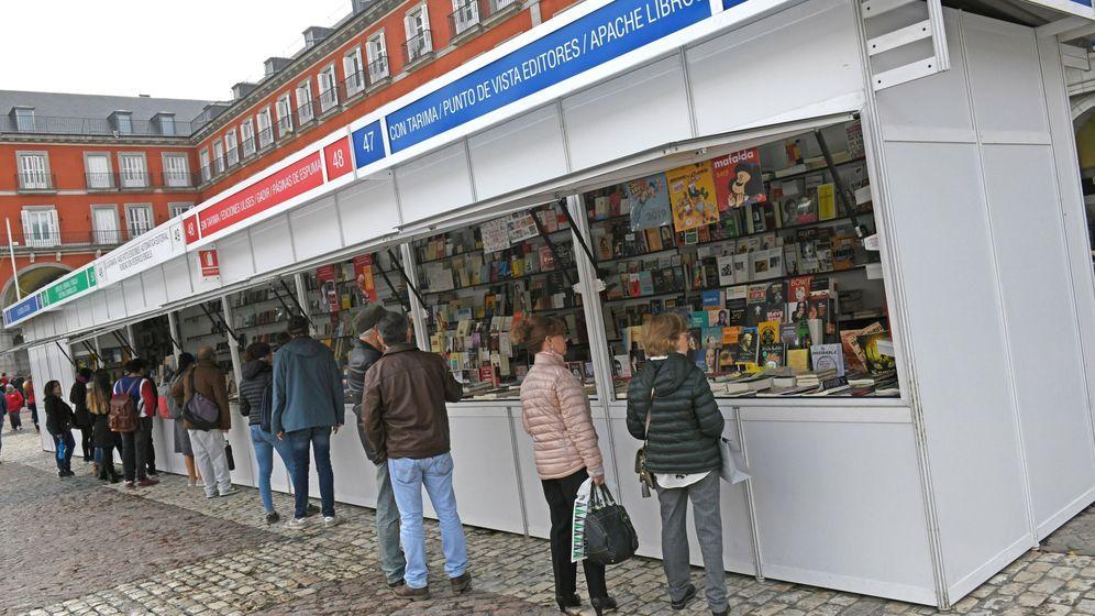 Foto: Feria del libro de Otoño en la Plaza Mayor de Madrid