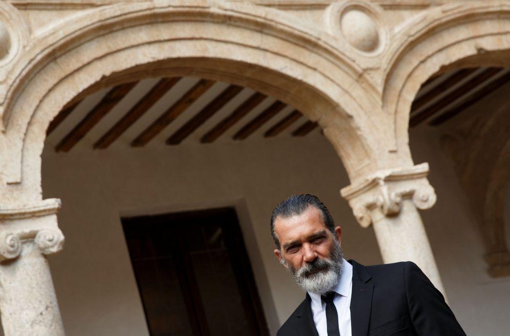Foto: Antonio Banderas, el pasado mes de abril al recibir el premio Camino Real. (Reuters)